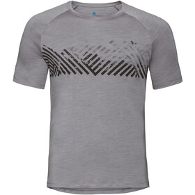 Odlo BL Concord Crew Neck T-shirt Heren, grey melange-mountain stripe ss19